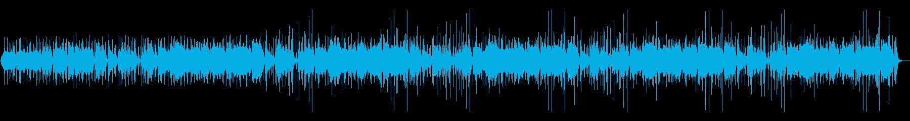 昔話風の素朴な尺八と太鼓の和風BGMの再生済みの波形