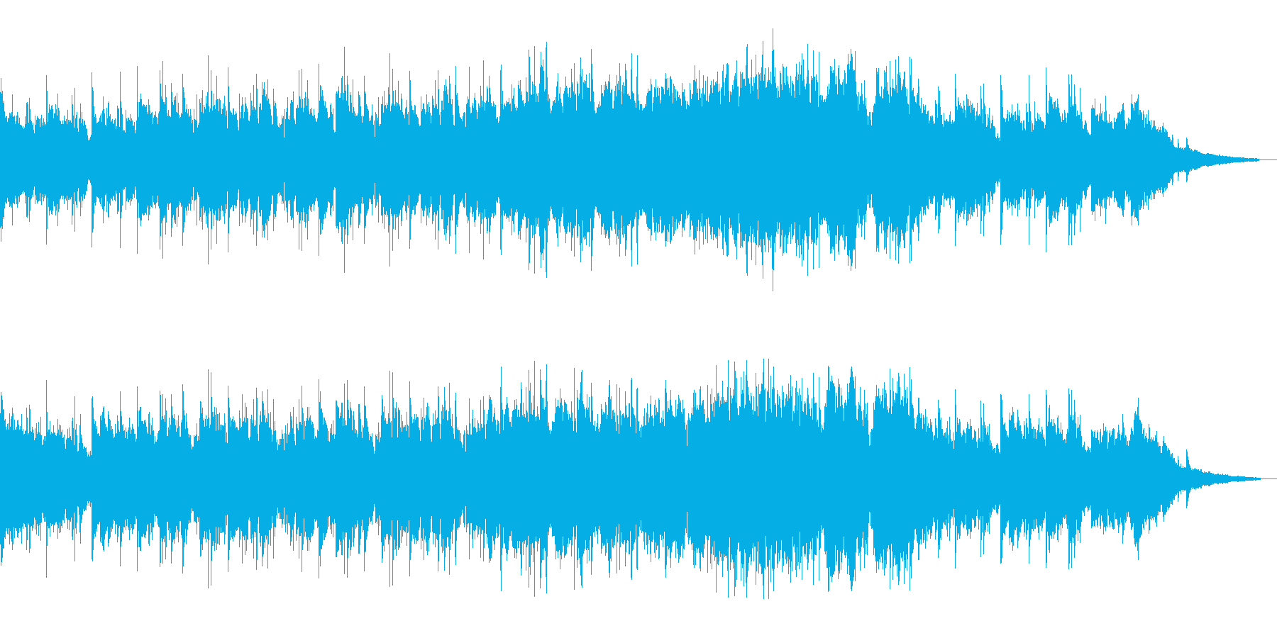 あたたかく優しいエンディング曲の再生済みの波形