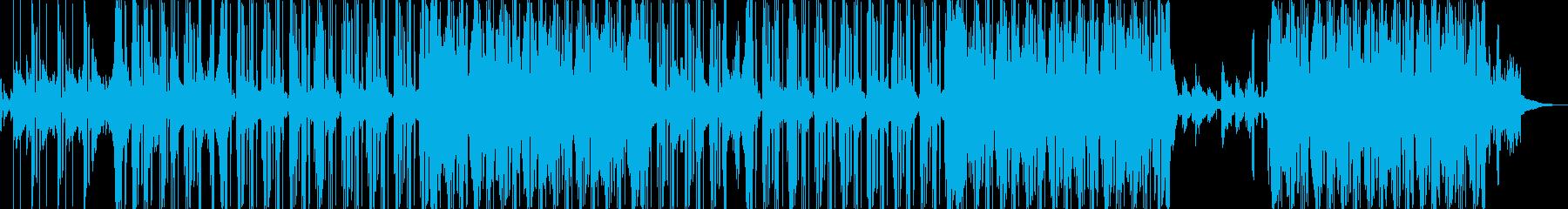 ピアノとノイズリズムで作る切ないトラックの再生済みの波形