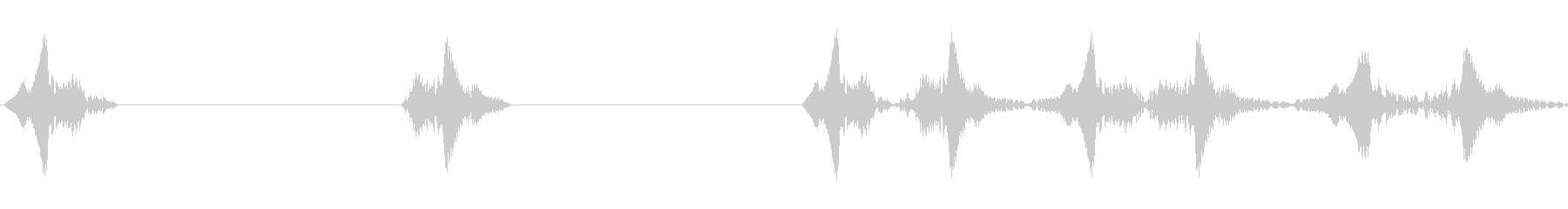 BPM90に合わせたレコードスクラッチの未再生の波形