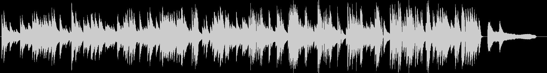 お洒落な動画に合うジャジーなピアノ8の未再生の波形