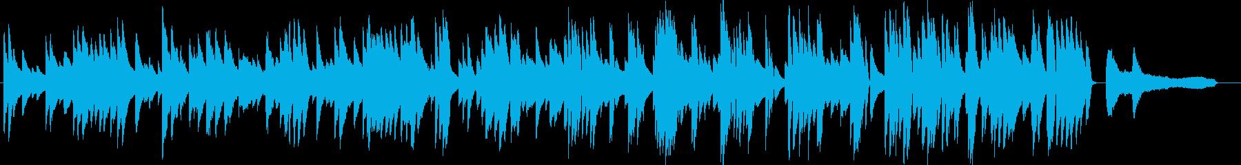 お洒落な動画に合うジャジーなピアノ8の再生済みの波形