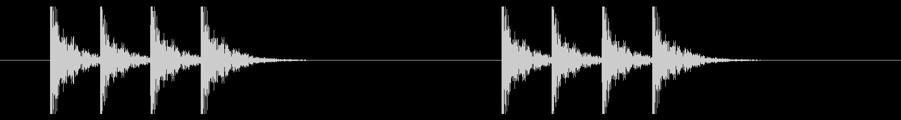 コンコンコンコン(ドアをノックする音)の未再生の波形