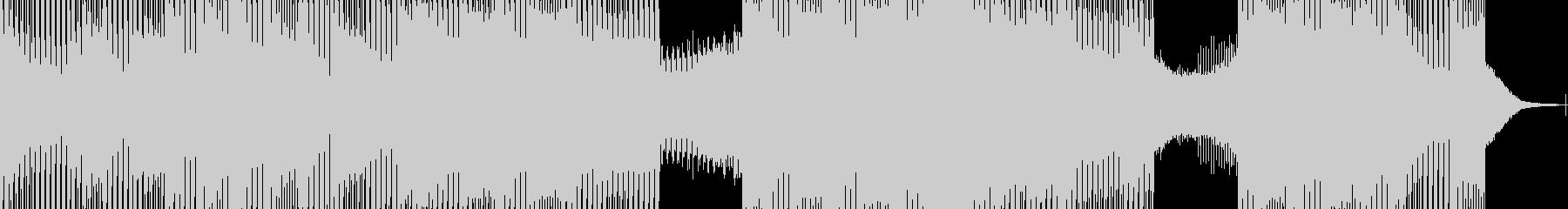 【テクノ】力強いキックと近未来サウンドの未再生の波形