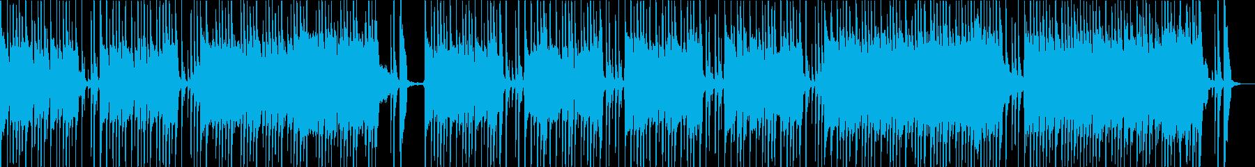ギターの効いたテンポのいいロックな曲の再生済みの波形
