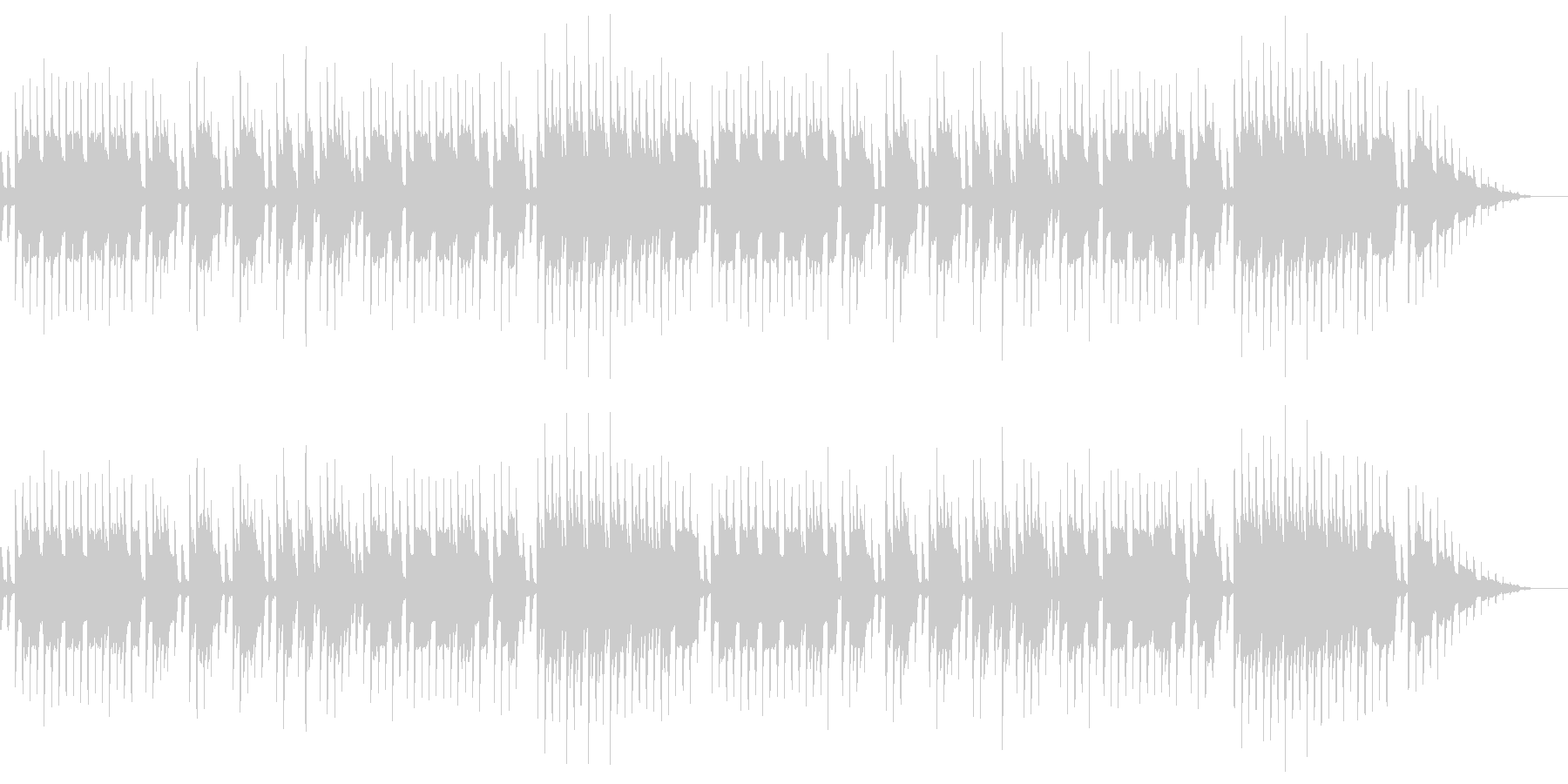 8bitクラシック-Je te veuxの未再生の波形