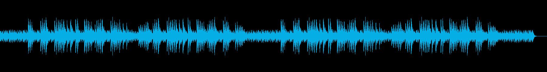 安らぎと癒しのエスニックなピアノ曲の再生済みの波形