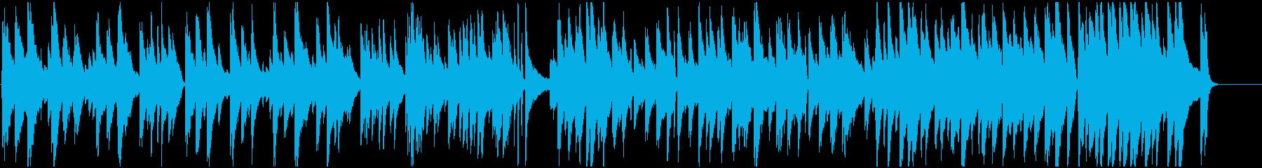 なめらかで癒しあるピアノメロディーの再生済みの波形