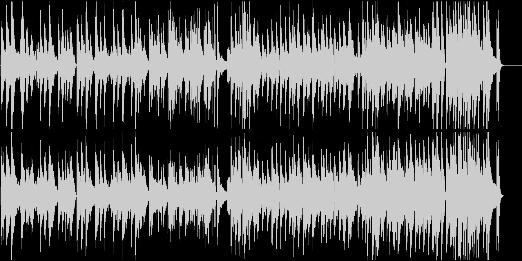なめらかで癒しあるピアノメロディーの未再生の波形