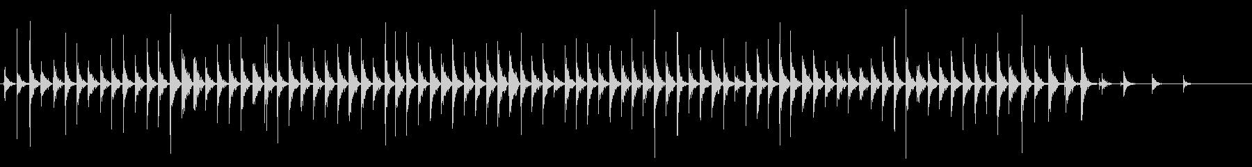 ウッドフロア:ローヒールの女性用フ...の未再生の波形