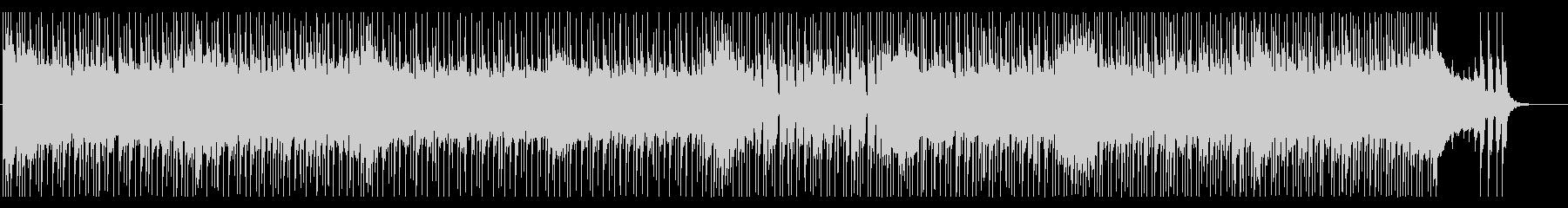 疾走感と攻撃的なメタルサウンドのBGMの未再生の波形