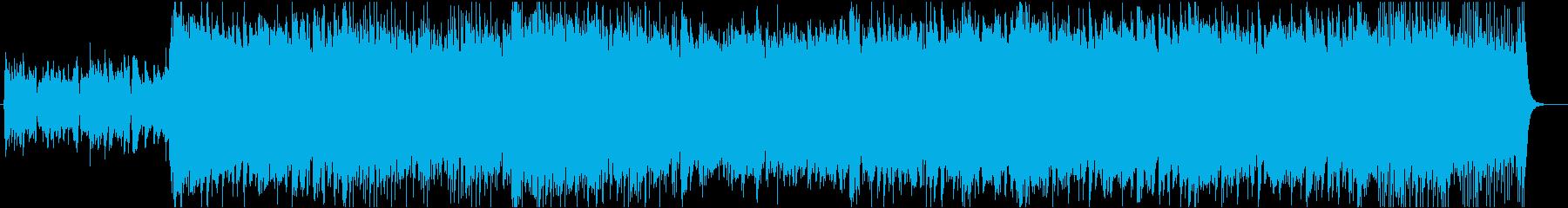 変拍子の和風BGM:夜の再生済みの波形
