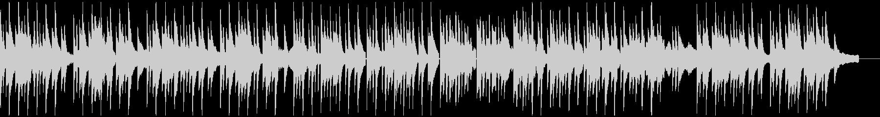 メランコリックなピアノソロの未再生の波形