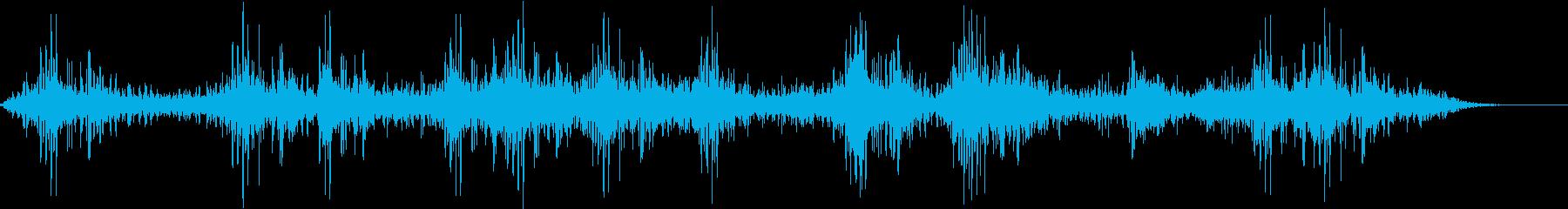 【ホラー系】暗闇の向こうへ進むような曲の再生済みの波形
