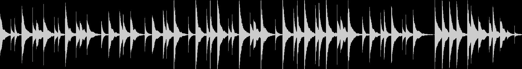 オルゴールアレンジきよしこの夜ループokの未再生の波形