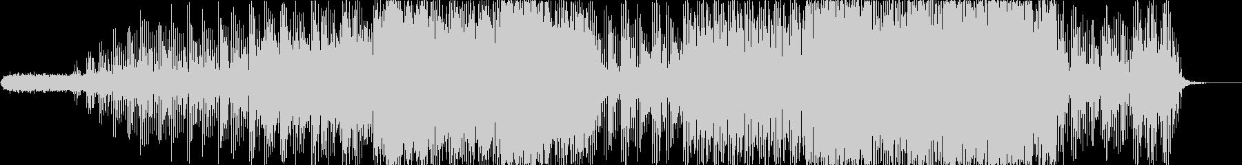 ひとけのない電子的なアンビエントの未再生の波形