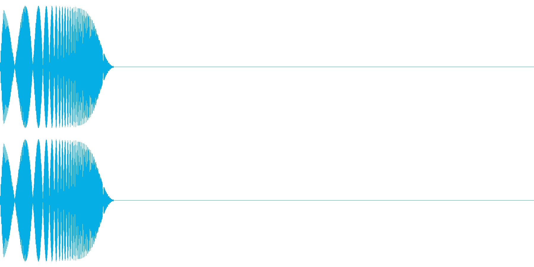 ポイ(決定/ジャンプかわいい/ピコピコ音の再生済みの波形
