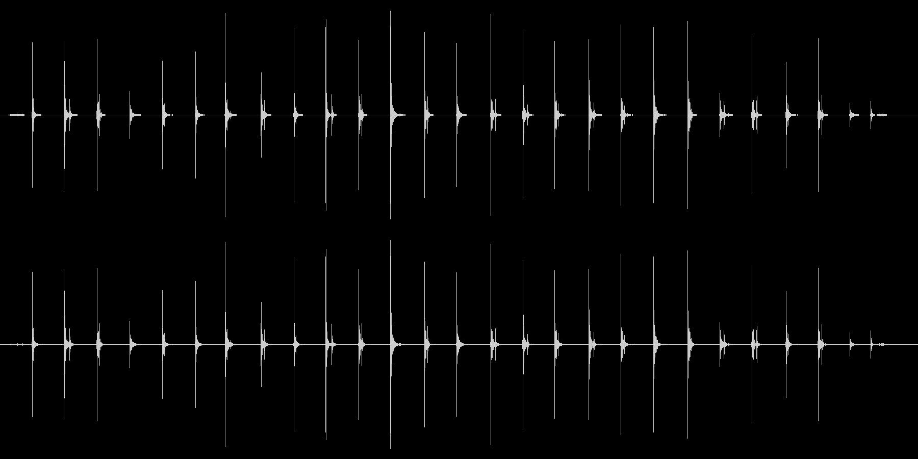 ステップ レザーシューズメタルドラ...の未再生の波形