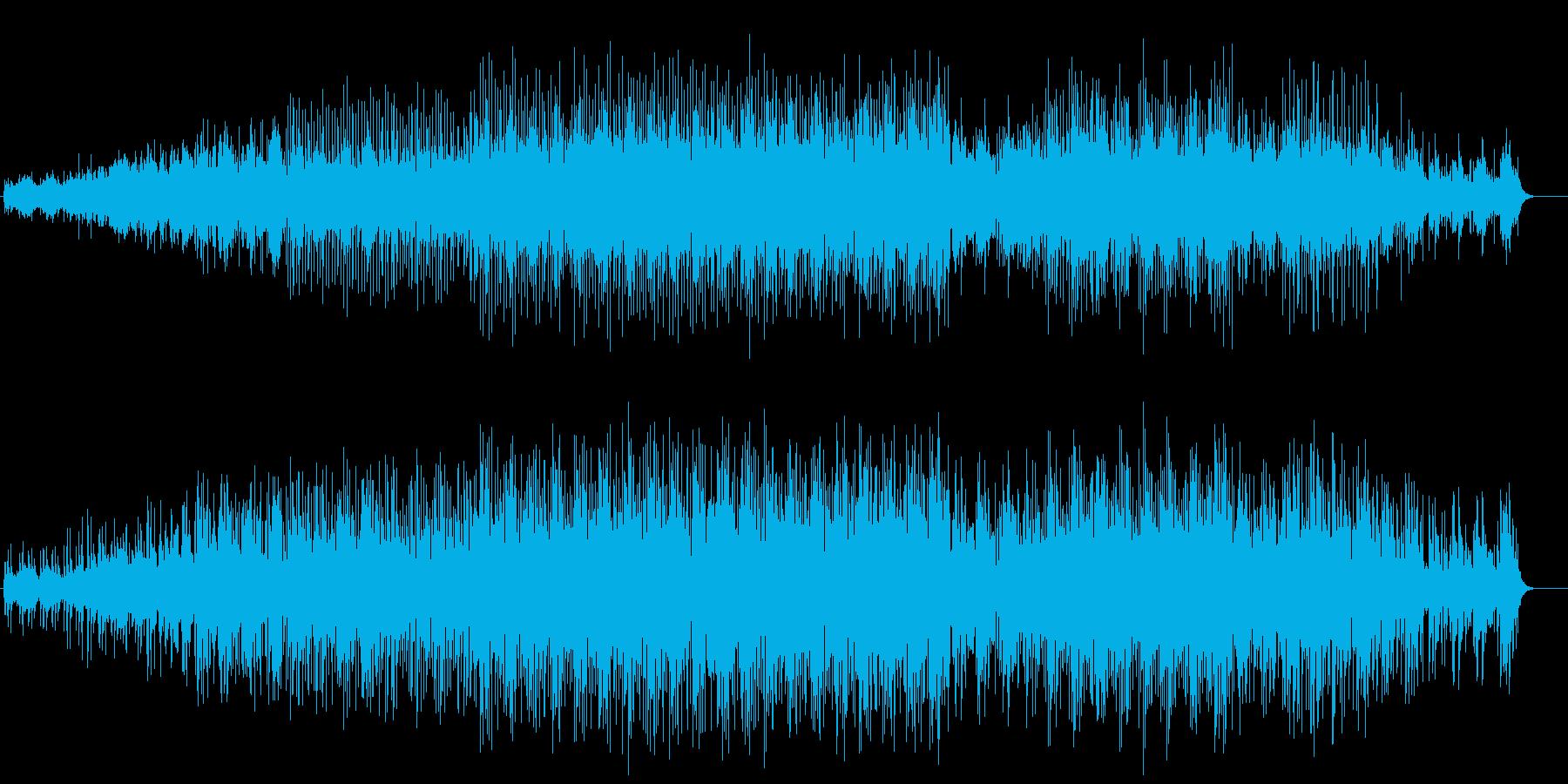 サイエンスチックなテクノロジー風サウンドの再生済みの波形