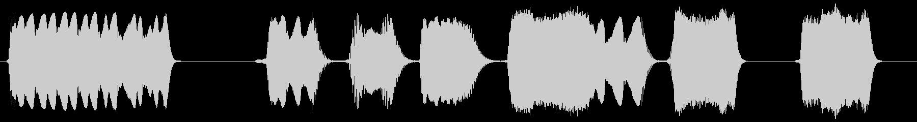 ブロークンスタティックスライススイープ3の未再生の波形