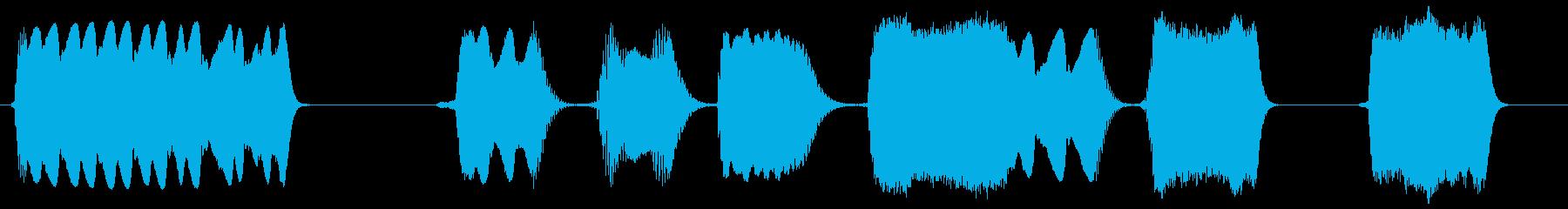ブロークンスタティックスライススイープ3の再生済みの波形