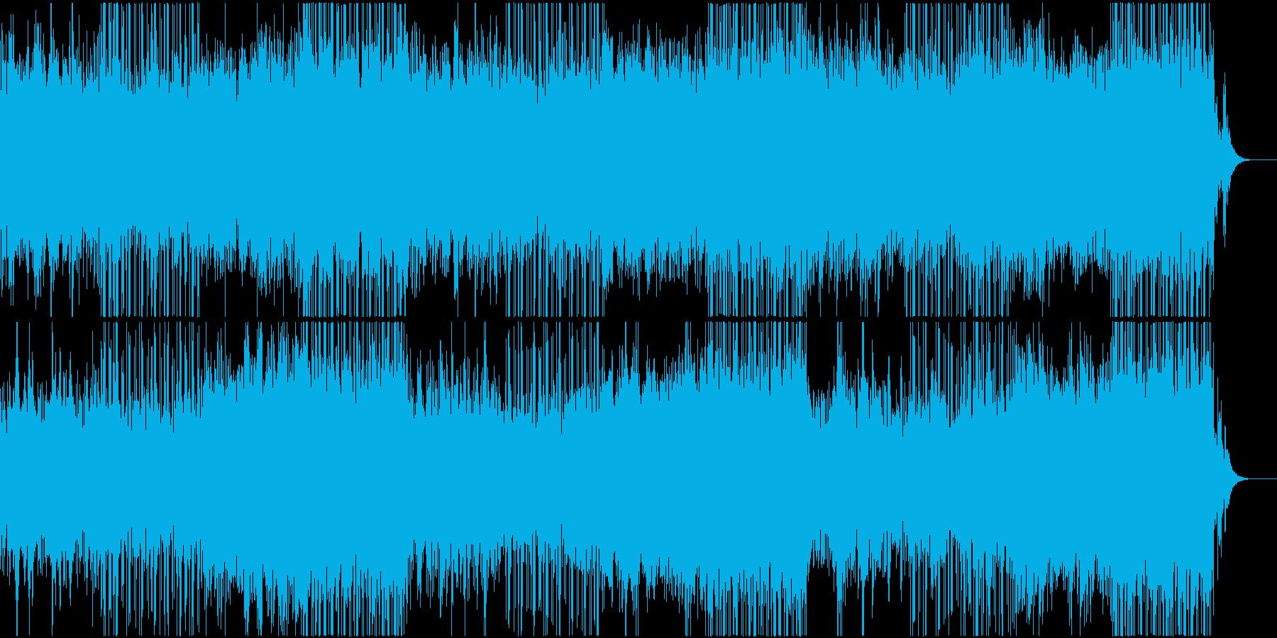 緊迫感のあるドラマティックな曲の再生済みの波形