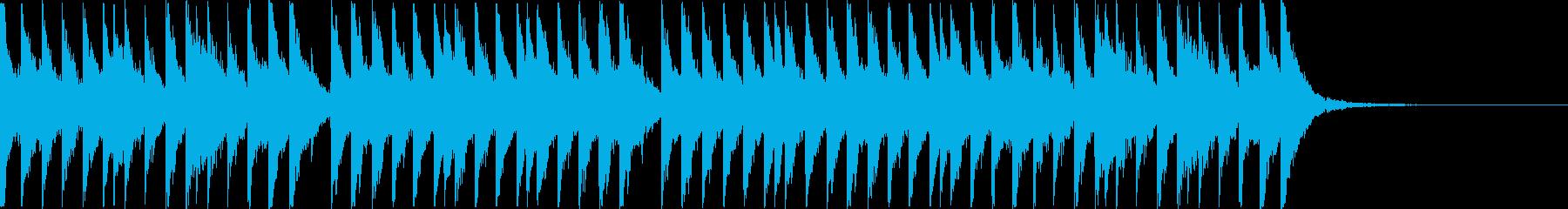 忍者!江戸!三味線!15秒!太鼓無し版の再生済みの波形