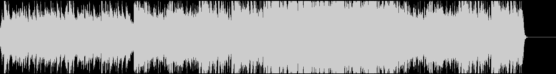 果敢な和風BGMの未再生の波形