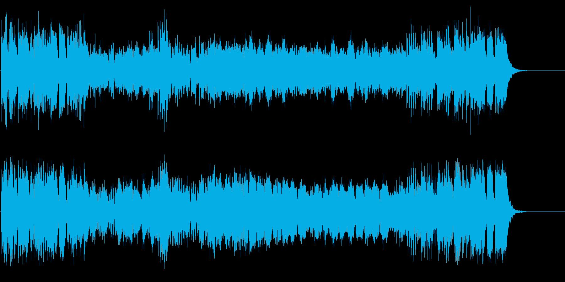 華やかで高貴なイメージの管弦楽曲の再生済みの波形