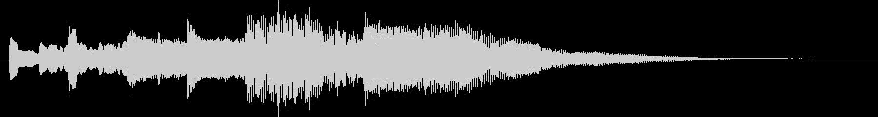 ベル音♪心地よいリズム#4の未再生の波形