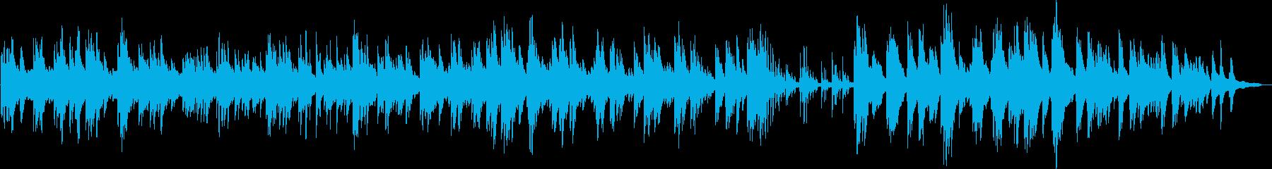優しいピアノソロのバラードですの再生済みの波形