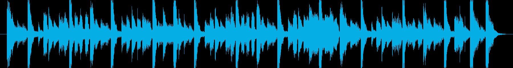 ポップな雰囲気のジングル・BGMの再生済みの波形