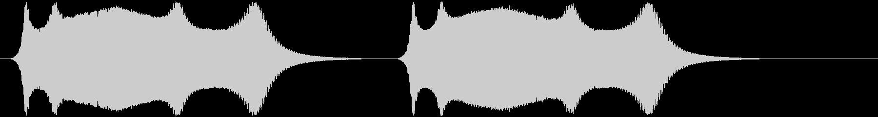 ワーブル;ハイピッチ電子ウォーブル...の未再生の波形