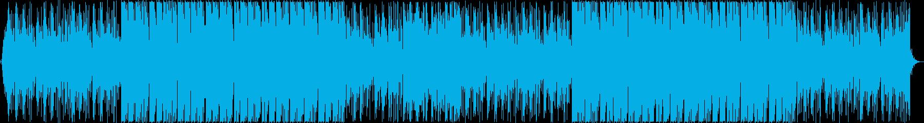 切ないエレクトロBGMの再生済みの波形
