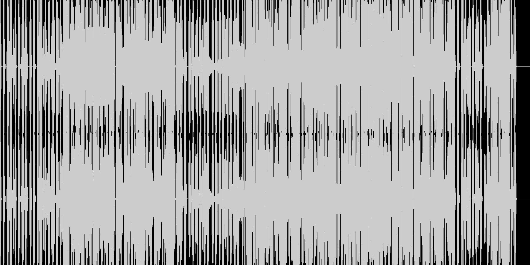 無機質なエレクトロニカの未再生の波形