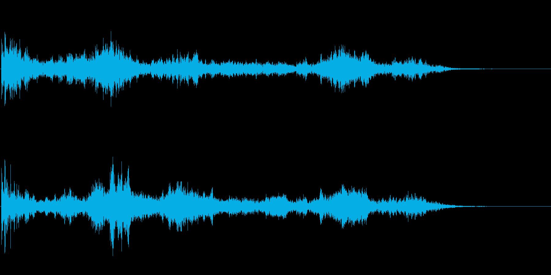 水・水中がテーマのアイキャッチ音の再生済みの波形