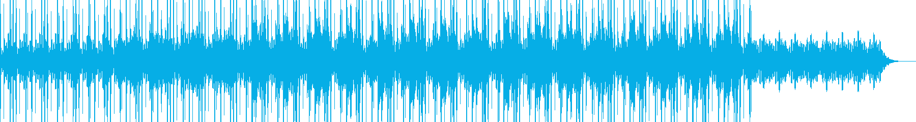 広がるシンセと締まるエレキギターのBGMの再生済みの波形