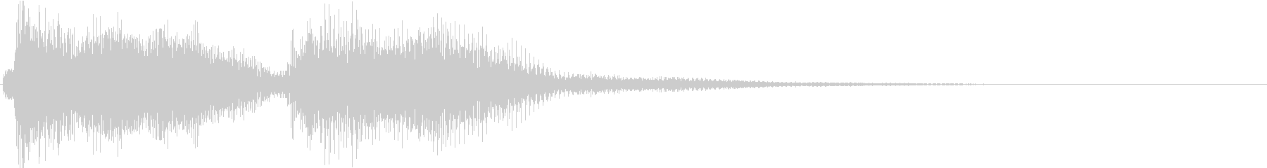 KANTクイズの時のジングル3の未再生の波形