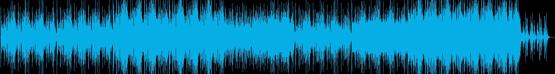 おしゃれできらびやかな和風BGMの再生済みの波形
