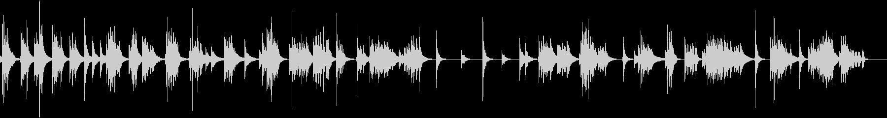 琴による風景描写スロー曲の未再生の波形