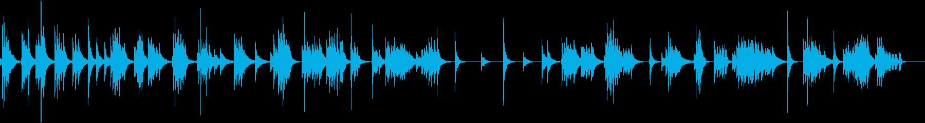 琴による風景描写スロー曲の再生済みの波形