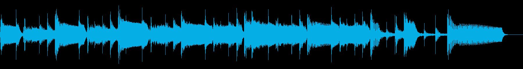 2つ、高速から低速までのテンポ、ベ...の再生済みの波形