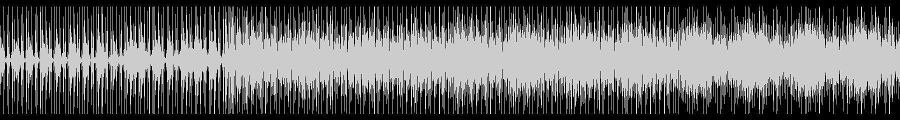 緊張感のあるテクノBGMの未再生の波形