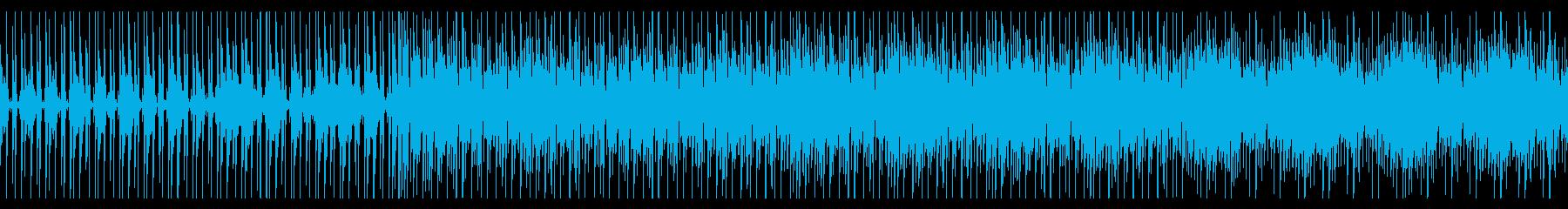 緊張感のあるテクノBGMの再生済みの波形