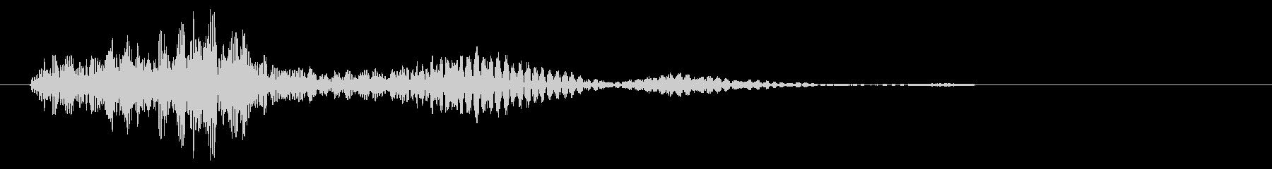 フィードバックライトウーシュによる...の未再生の波形
