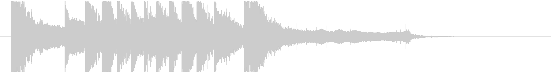 聞き馴染みのある和風・正月系ロゴ(A)の未再生の波形
