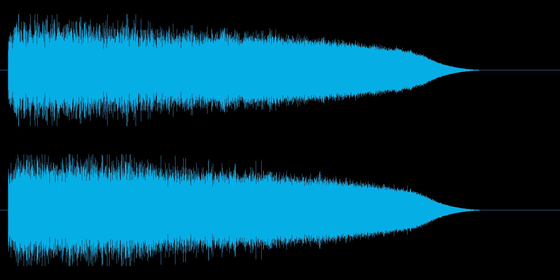 レーザー音-88-3の再生済みの波形