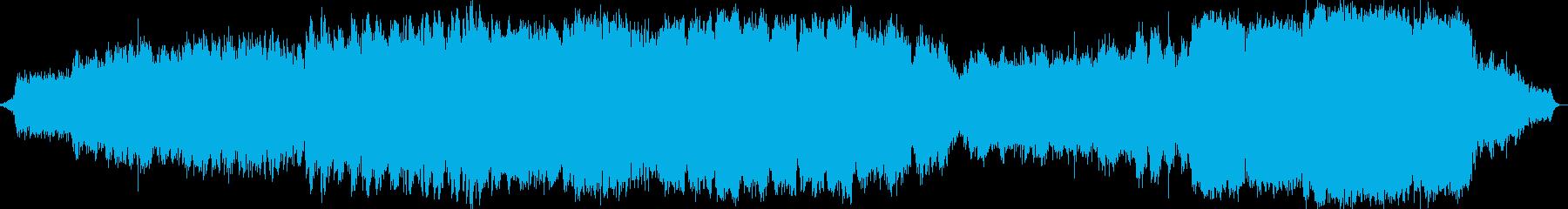 シンセサイザーオーケストラ音楽の再生済みの波形