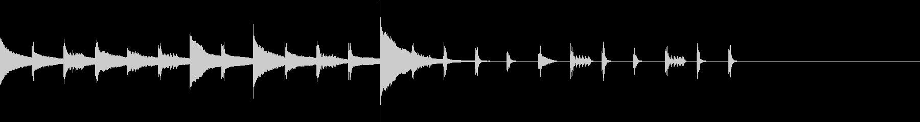 東南アジア ビブラフォンの未再生の波形
