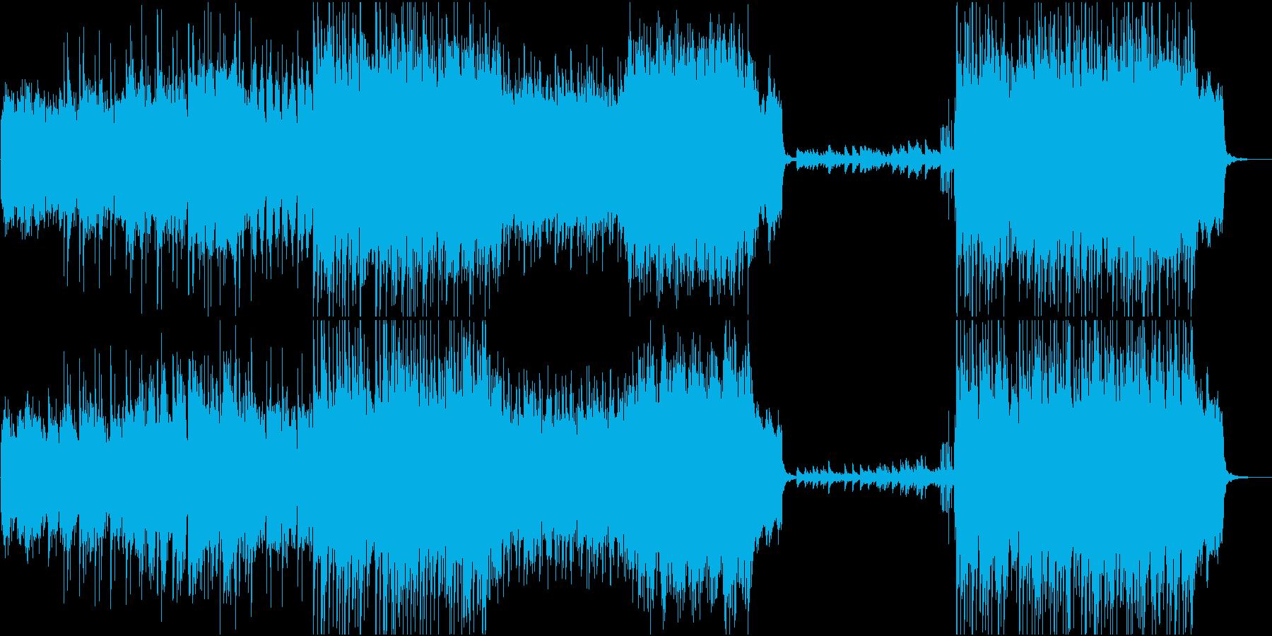 ハープが美しい森のオーケストラの再生済みの波形